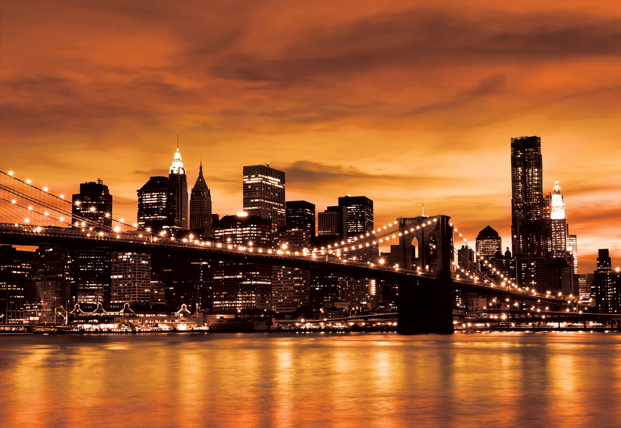 228P New York Brooklyn Bridge City WALL MURAL PHOTO WALLPAPER PICTURE